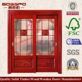 단단한 나무 골격 강화 유리 실내 미닫이 문 (GSP3-020)