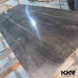 De acryl Stevige Oppervlakte van de Kleur van de Steen van de Hars Beige