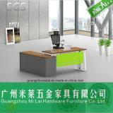 Mesa moderna nova do gerente da mobília de escritório do metal com gabinete lateral