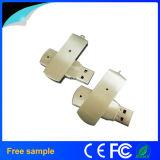 卸し売り長方形の銀の金属の回転USBのフラッシュ・メモリ