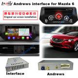 Androider GPS-Navigations-Schnittstellen-Kasten für Mazda-Serie, Spiegel-Link, Form-Bildschirm, hintere Ansicht, Sprachsteuerung