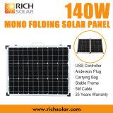 панель солнечных батарей 140W 12V Mono фотовольтайческая складывая для домашней пользы