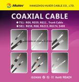 Cable coaxial RG6 del precio de fábrica ETL con la cobertura del 60% para CATV (blindaje del patio)
