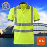 Uniforme r3fléchissant jaune de sûreté de jupe de polo de circulation de force d'OEM salut