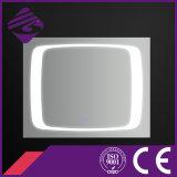 Rectangle LED salle de bains chanfrein bord Miroir avec écran tactile