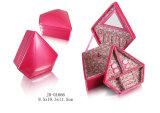 Diamant-Formglänzender Faux-Leder-Schmucksache-Kasten
