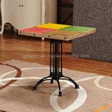Mobilia speciale del ristorante del piedino del ghisa di disegno con un tavolo di legno di quattro colori (SP-RT550)
