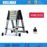 Ladder 3.2m+3.2m van het Aluminium van de combinatie Telescopische Ladder van China