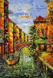 Corte mural de la mano del mosaico
