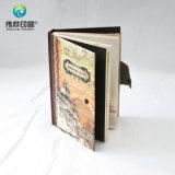 Álbum de papel de lujo del diario del cuaderno de la impresión DIY (con la etiqueta engomada)
