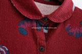 Longue chemise de coton rouge de femmes