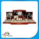 Indicador de madeira personalizado do relógio com os grampos transparentes de C