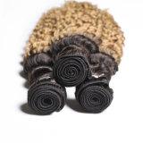 Бразильские выдвижения йБ 27 человеческих волос 30 белокурых глубоких пачек волос волны