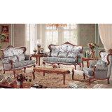 La mobilia del salone con il sofà di legno ha impostato (503B)