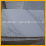 De opgepoetste Witte Marmeren Tegels van Plakken Volakas voor de Vloer van de Badkamers van de Keuken