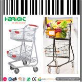 Chariot à achats de supermarché avec des paniers