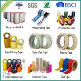Bande adhésive d'emballage de la couleur jaune OPP de qualité pour le cadre de cachetage de carton
