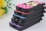 Пурпуровое iPhone аргументы за телефона силикона мыши Минни МНОГОТОЧИЯ польки 6 6splus 7 7plus (XSD-001)