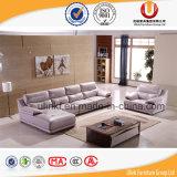 Sofá moderno do couro da L-Forma da sala de visitas para a HOME (UL-X8012)
