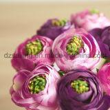 Fleur artificielle décorative romantique de bouquet de mariage de Ranunculus (SF14653B)