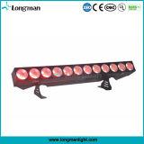 최고 밝은 알루미늄 12PCS*25W Rgbaw LED 단계 곁눈 가리개 조명 기구