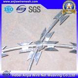 Arame farpado galvanizado eletro da lâmina do ferro para a segurança que cerc com ISO9001