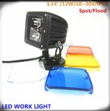 12W 12V Squar LED Work Light voor Jeep Offroad Truck
