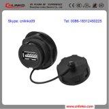 O tampão impermeável do conetor do USB da montagem do painel/USB2.0 Waterproof o conetor