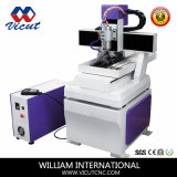 Миниый маршрутизатор CNC для мрамора/алюминия/меди высекая с роторным приспособлением (VCT-4540R)