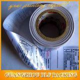 Etiqueta engomada de papel impresa brillante de encargo