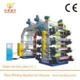 Печатная машина Flexo 4 цветов с керамическим роликом Anilox