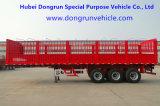 De Fabrikant 40-65t 3 van Dongrun de Semi Aanhangwagen van de Omheining van de Zijgevel van de As