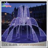 Brunnen-bunter Edelstahl-im Freienbrunnen-Licht der Weihnachtsdekoration-LED