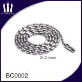 Wholesale Stainless Steel 2.4mm Bead Chain Ball Necklace