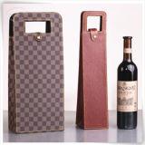 Коробка подарка вина PU кожаный для подарка