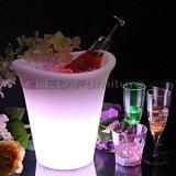 Conteneur magique rougeoyant de vin de seau à glace de DEL