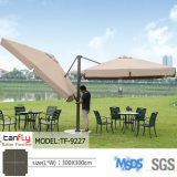 Parapluie romain de patio de Sun de parapluie de jardin en porte-à-faux extérieur luxueux en métal