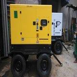 Gerador Diesel silencioso trifásico de 380V 20kVA com 4 o gerador Diesel portátil das rodas 20kVA
