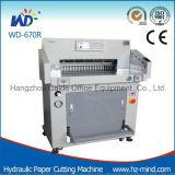 (WD-670R) máquina de estaca hidráulica resistente do papel do Programa-Controle de 80mm