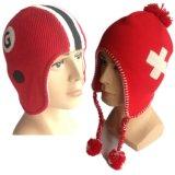 Создатель шлемов Beanie зимы нового Acrylic способа 100% изготовленный на заказ связанный Earflap