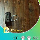 Revestimento estratificado impermeável raspado mão do carvalho AC4 do anúncio publicitário 12.3mm