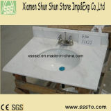 Tapas amarillas populares de la vanidad del granito G682 de China para el cuarto de baño