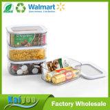 ABS + como envases de almacenaje de los bocados del alimento del rectángulo con aduana de la venta al por mayor de la tapa