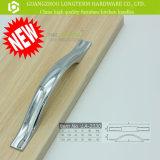 Причудливый ровная ручка тяги шкафа серебра нашивки