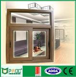 Doppeltes glasig-glänzendes Aluminiumlegierung-schiebendes Fenster