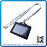 Изготовленный на заказ Printed Lanyard с PVC/Leather Card Holder Lanyard для Promotional Gift