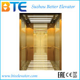 Ce Mr Vvvf Passenger Elevator with Golden Cabin