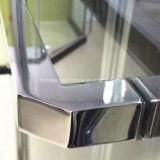 Écran de douche Polished en aluminium simple normal australien en verre Tempered de bâti (H802)