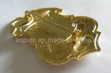 Metal curvo Gold Police Badge con Imitation Cloisonne (badge-209)