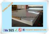Hoja rígida brillante blanca del PVC de Mircon de los pies 350 de la talla estándar 4*8 para el panel de emparedado